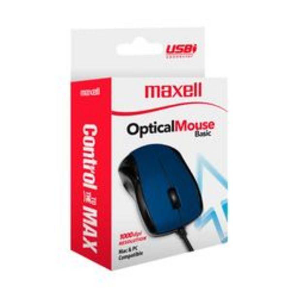 Oferta de Mouse maxell MOWR-101 Azul por $419