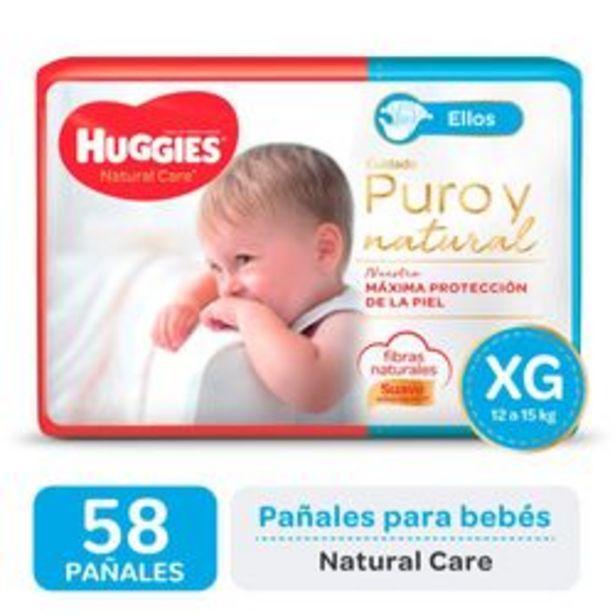 Oferta de Pañales Huggies Natural Care para Ellos Pack Ahorro XG 58 Unidades por $1,416
