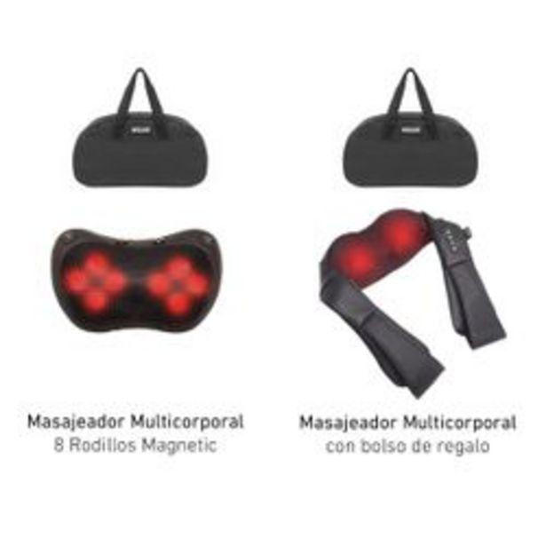 Oferta de Masajeador Wolke Combo Luxury Cervical Espalda Calor Negro 8 Esferas. por $10,999