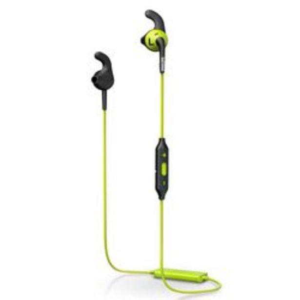 Oferta de Auriculares para Celular USB Philips action fit SHQ6500CL-00 Verde por $4,499