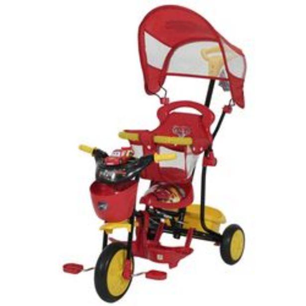 Oferta de Triciclo Disney Xg - 8001 Nt2 Cars Rojo y Negro por $8,799