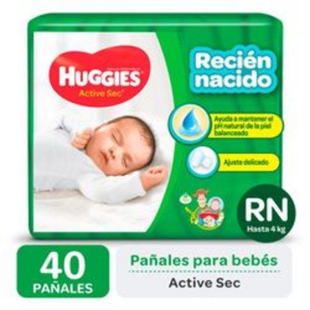 Oferta de Pañales Huggies Active Sec RN 40 Unidades por $709