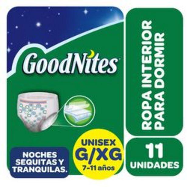 Oferta de Ropa Interior para Dormir Huggies Goodnites G/XG 11 Unidades por $1,434