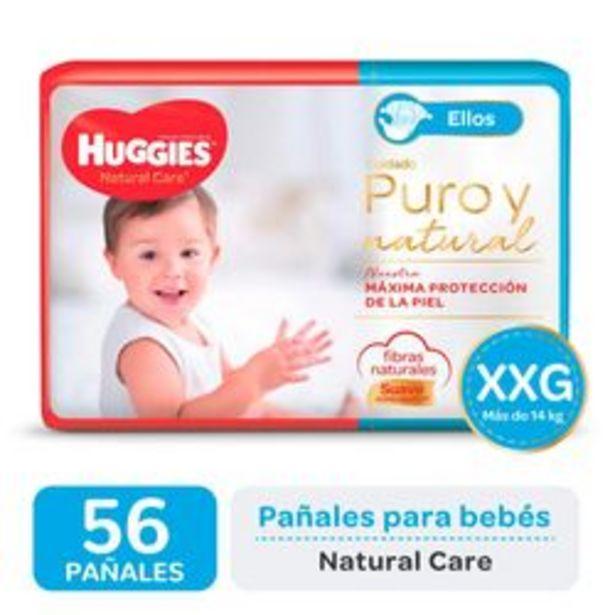 Oferta de Pañales Huggies Natural Care para Ellos  XXG 56 Unidades por $1,416