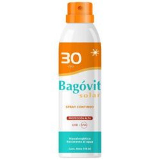 Oferta de Protector Solar Corporal Bagovit Solar Spray Continuo FPS 30 170 Ml. 1 U. por $678
