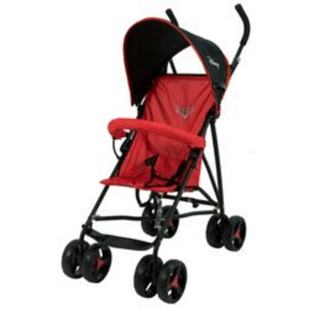 Oferta de Coche Paragüita Disney S - 601 Cars Rojo y Negro por $6,839