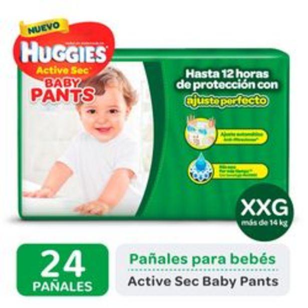 Oferta de Pañales Huggies Active Sec Baby Pants XXG 24 Unidades por $679