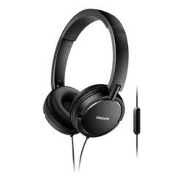 Oferta de Auriculares 3.5 mm Philips Estilo DJ SHL5005/00 Negro por $2,499