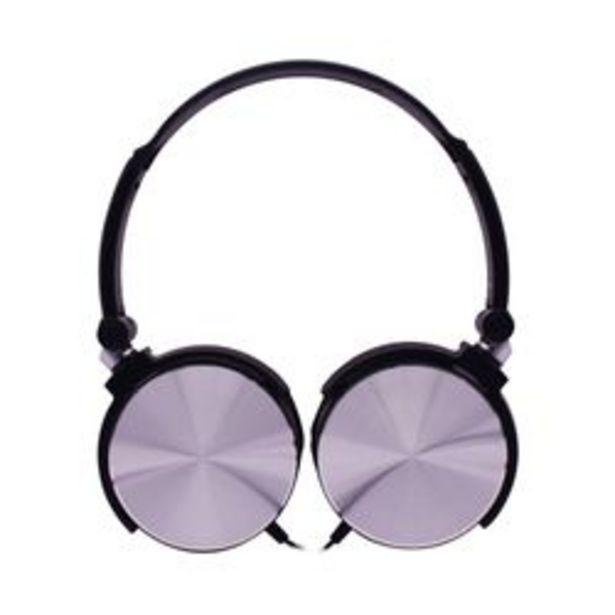 Oferta de *Auriculares 3.5 mm Noblex HP107BS Negro y Gris por $1,799