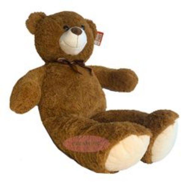 Oferta de Peluche oso Marrón Dream Pig 100 cm por $2,99