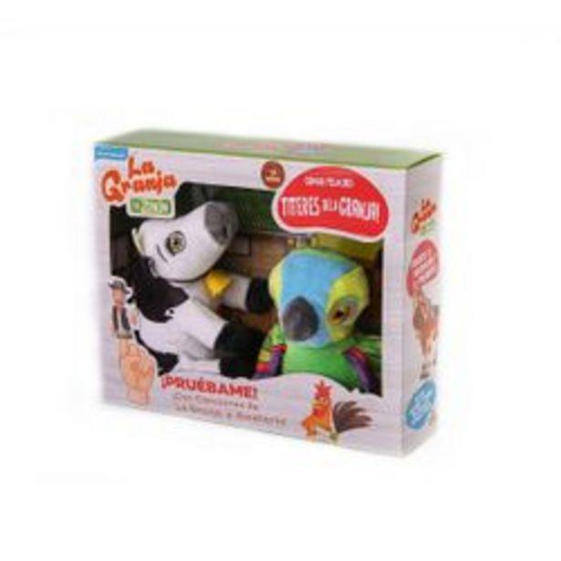 Oferta de Títere   Vaca Lola y Pepe Verde AxToys 10 cm por $1,684