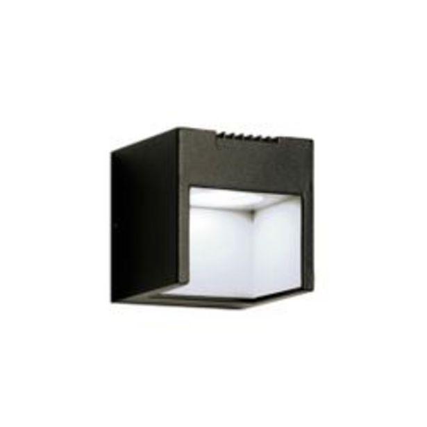 Oferta de Aplique de Pared LED Artelum Qubo 3 W. 9 x 9 Cm. Negro 1 U. por $2,523
