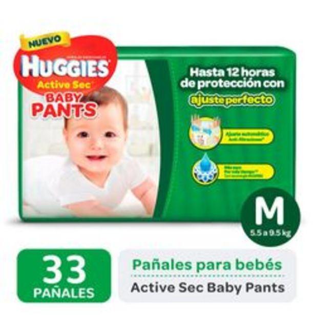 Oferta de Pañales Huggies Active Sec Baby Pants M 36 Unidades por $679