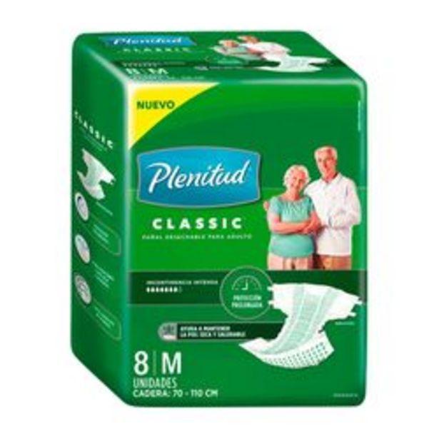 Oferta de Pañales para Adultos Unisex Plenitud Classic 8 U. Mediano por $258