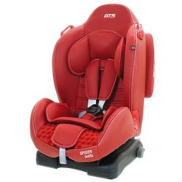 Oferta de Butaca para Auto GTS Spider  Rojo desde 9 hasta 25 Kg. por $20,899