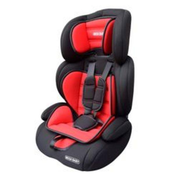 Oferta de Booster con Respaldo Mega Baby Silverton 3 en 1  Negro y Rojo de 9 A 36 Kg por $7,699