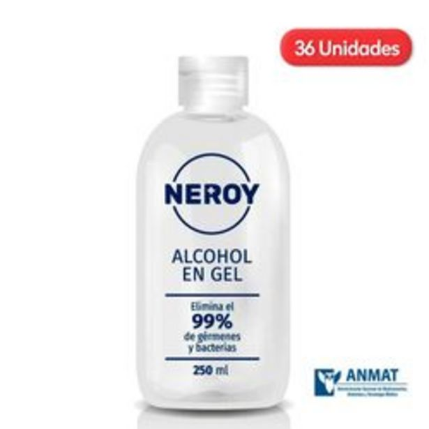 Oferta de Alcoholes en Gel Neroy Botella 250ml x 36 U. por $7,499