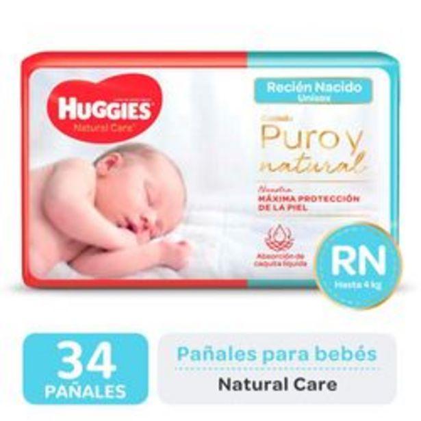 Oferta de Pañales Huggies Natural Care  RN 34 Unidades por $709