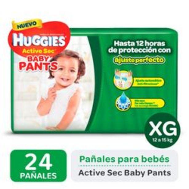 Oferta de Pañales Huggies Active Sec Baby Pants XG 24 Unidades por $679