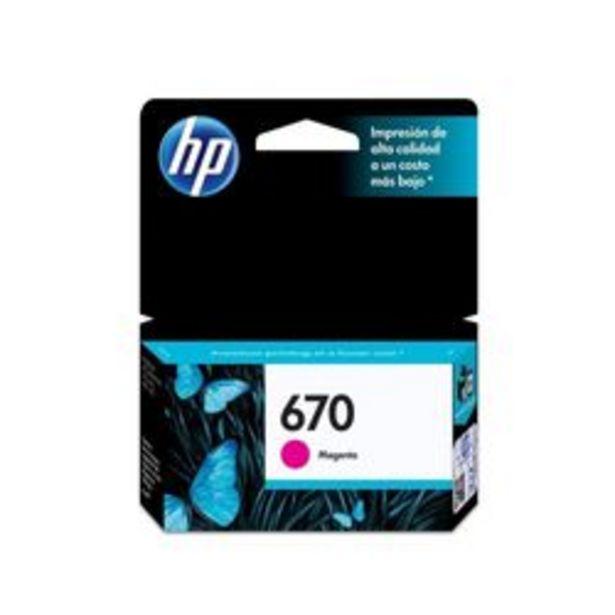 Oferta de Cartucho de Tinta HP 670 Magenta por $1,699