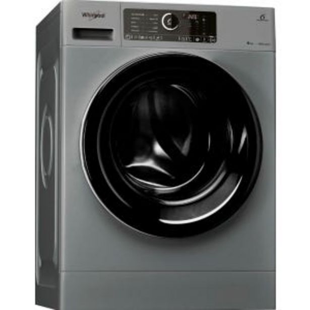 Oferta de Lavarropas Whirlpool Sense Inverter WLCF90S 9kg 1400RPM Silver por $69999