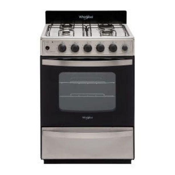 Oferta de Cocina Multigas Whirlpool WFX57DW Inox 4h por $57699