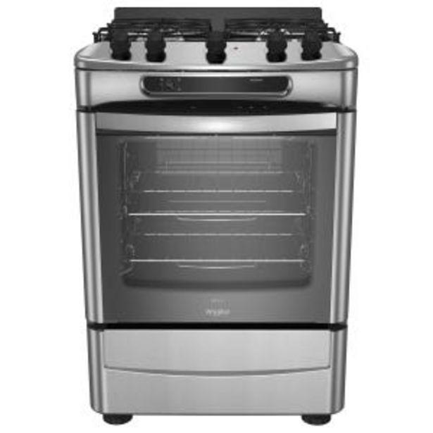 Oferta de Cocina Multigas Whirlpool WF360XG Inox 4h Encedido Eléctrico por $82999