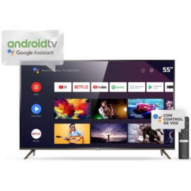 """Oferta de Smart TV 55"""" TCL 4K UHD Android L55P8M por $62999"""
