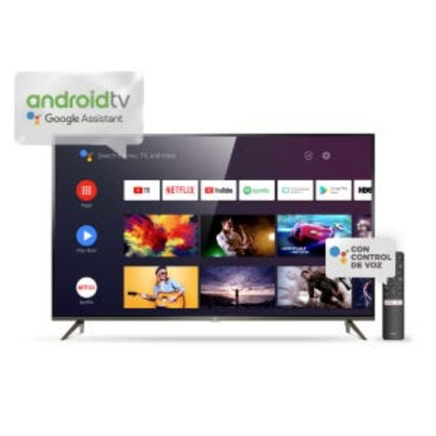 "Oferta de Smart Tv LED 75"" TCL L75P8M 4K UHD Android por $179359"