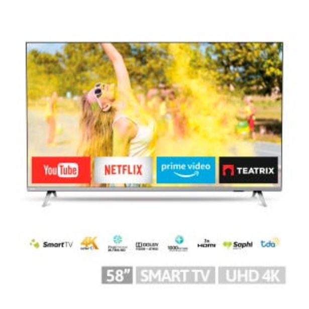 Oferta de Smart  Tv LED 58 Philips 58PUD6654 4K UHD por $69999