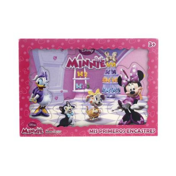 Oferta de Rompecabezas De Madera Primer Encastre Minnie Magic Makers por $475
