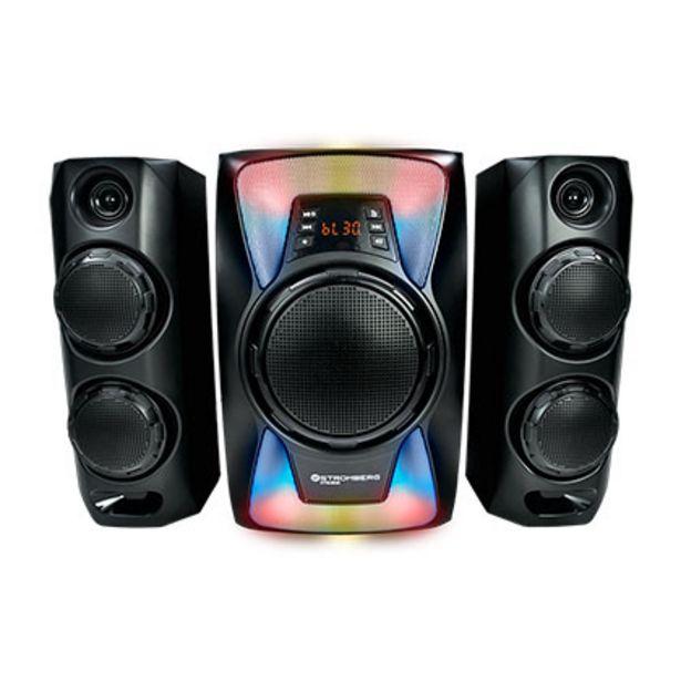 Oferta de Home Theater 2.1 Bluetooth Luces 40 W Stromberg HTG 802 Negro por $18599
