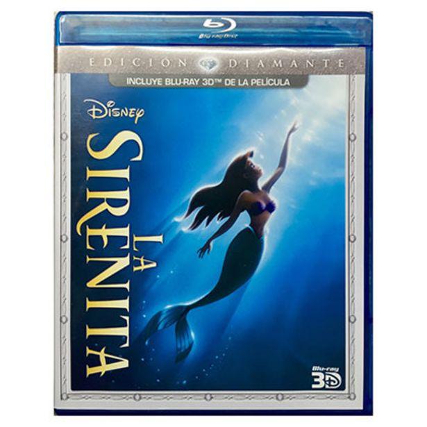 Oferta de Bluray Disney La Sirenita 3d por $75