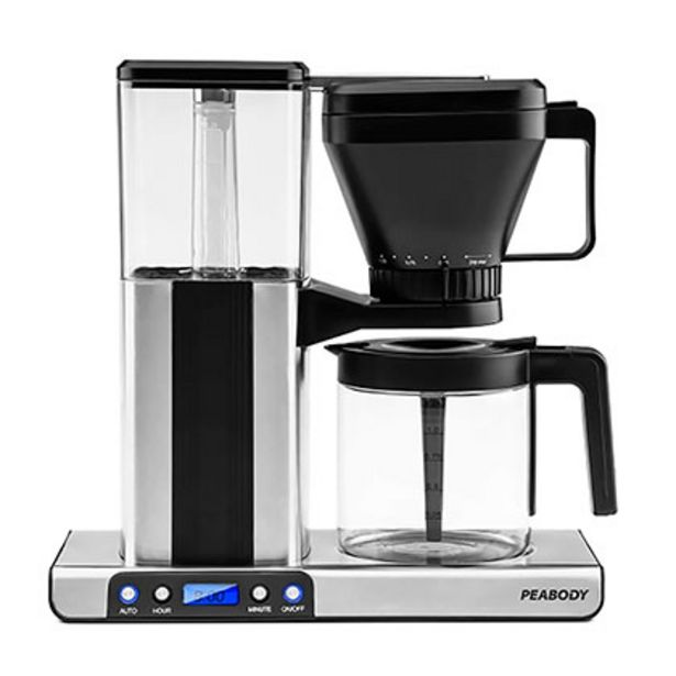Oferta de Cafetera De Goteo Digital Mocca Con Display Led Peabody PE-MK01 por $24999