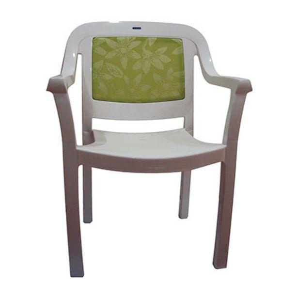 Oferta de Mueble De Jardin - Exterior Silla - Sillon Tramontina 92233/120 Miami Blanco con Verde Plastico Diseño Liso Con Apoyabrazo por $4749
