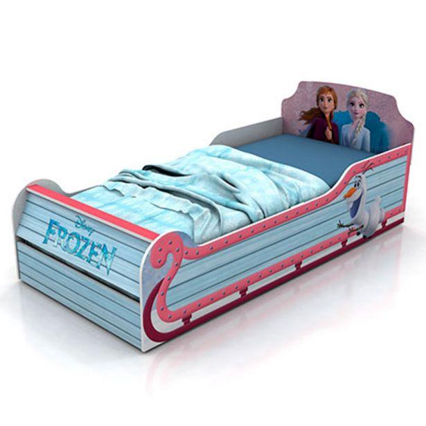 Oferta de Mueble De Dormitorio Cama Trineo Frozen 1 Plaza Disney 804/15 Blanca 1,25 De Mts Para colchon De 90 Cm por $14249