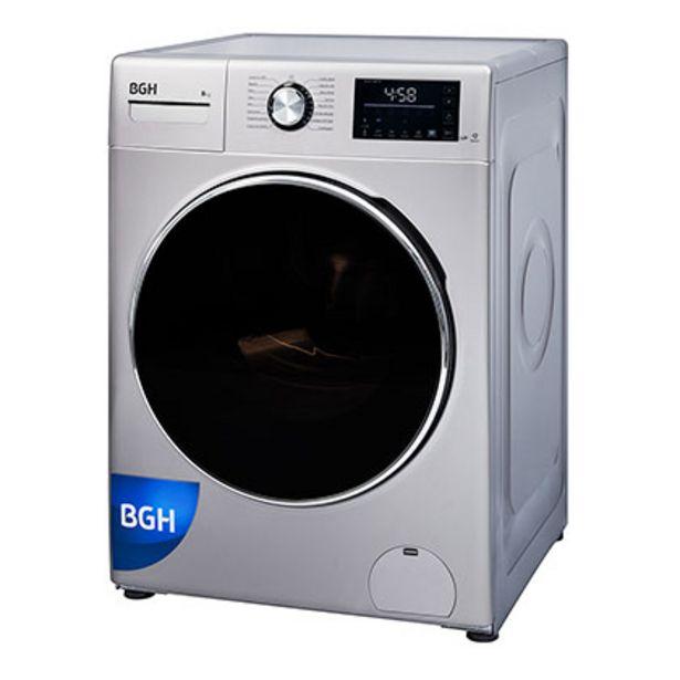 Oferta de Lavarropas Automático Inverter 8 Kg 1350 Rpm BGH BWFI8S18 Plata por $45999