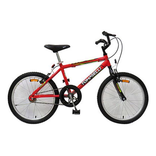Oferta de Bicicleta Rodado 20 Tomaselli Kid 20 Rojo por $9689
