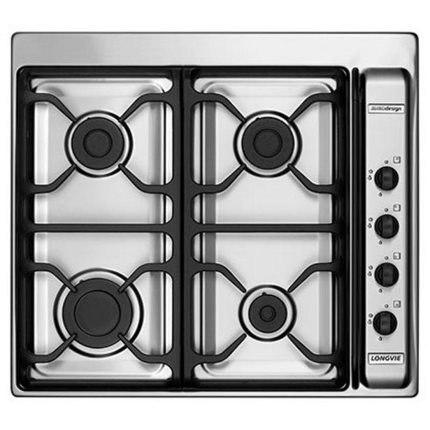 Oferta de Anafe Eurodesign Multigas 60 cm A6600RXF Longvie Inox por $39599