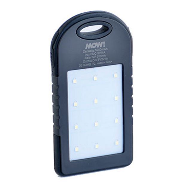Oferta de Cargador de Bateria Solar MOW Solar Charge Negro por $760