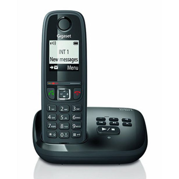 Oferta de Telefono Inalambrico Gigaset AS405A Negro por $5699