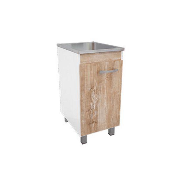 Oferta de Mueble De Cocina Bajo Mesada  Mmakenna 454 Murano Blanco Con Atakama 40 Cm De Ancho Melamina 1 Puerta  1 Estante por $2179