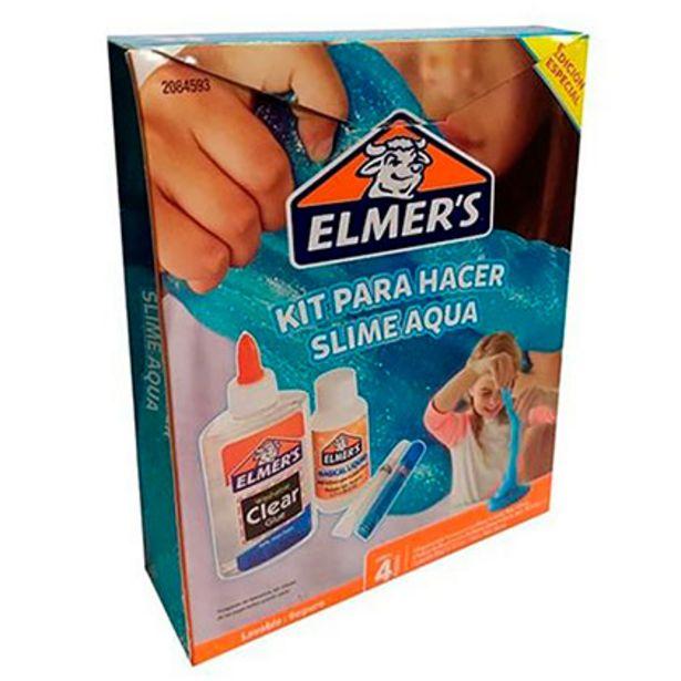 Oferta de Kit Para Preparar Masa Pegajosa Slime Aqua Elmer´s 2084593 por $719