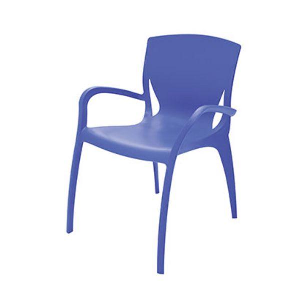 Oferta de Mueble De Jardin - Exterior Silla - Sillon Tramontina 92040/030 Clarice Azul Plastico - Fibra De Vidrio Diseño Liso Con Apoyabrazo por $4749