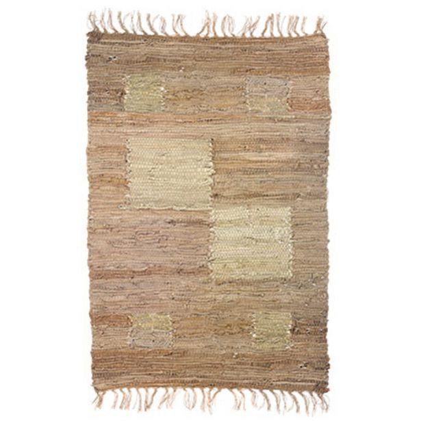 Oferta de Alfombra Rectangular de Cuero 60 X 90 Mosaico por $950