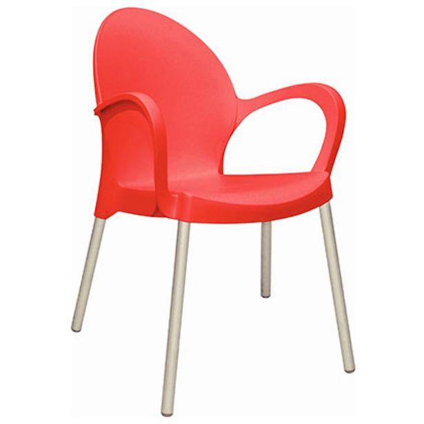 Oferta de Mueble De Jardin - Exterior Silla - Sillon Tramontina Grace Roja Plastico Diseño Liso y Apoyabrazo por $5229
