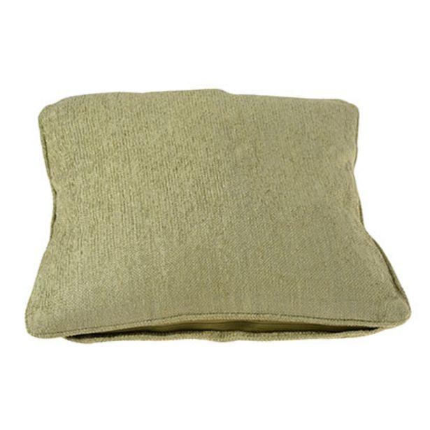 Oferta de Almohadon Chenille de Algodón Verde por $950