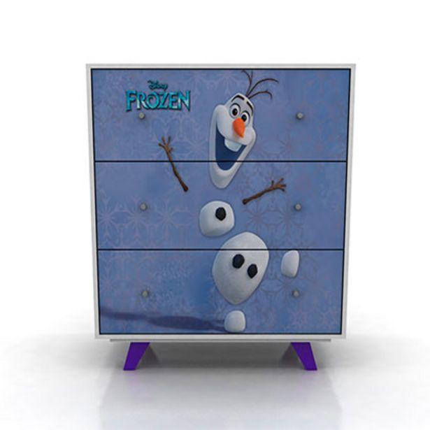 Oferta de Mueble De Dormitorio Comoda Cajonera Frozen Disney 182/15 Blanca 3 Cajones 87 Cm De Ancho por $14059