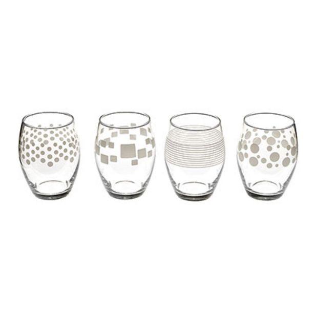 Oferta de Set x 4 vasos Trend 390cc por $779
