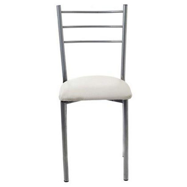 Oferta de Mueble De Comedor Silla De Caño Makenna S2000 Respaldo De Caño Tapizado Manteca por $1399